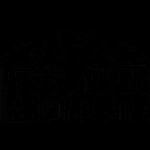 A imagem contém o nome da equipe, The Flying Machine e um dragão preto de asas abertas e soltando fogo pela boca.